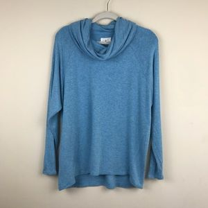 Lou & Grey Blue Cowl Neck Lightweight Sweater Sz M